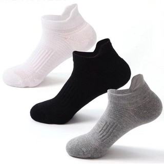 Ready Stock Summer Men Sport Fitness Run Fashion Breathable Non Slip Ankle Casual Solid Color Socks