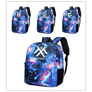 new Men's bags bts blackpink twice wanna one blackpink seventeen  backpack traveling  Canvas Sporty style Starry sky