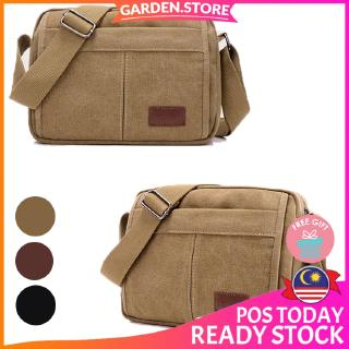 GS Fashion Men Canvas Multi Compartment Crossbody Sling Bag Shoulder Bag - M51