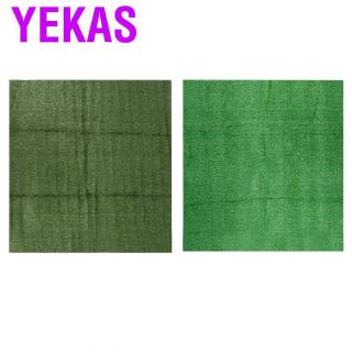 Yekas 1x1m Thick Simulation Lawn 15mm Artificial Synthetic Green Grass Turf Landscape