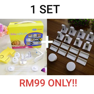 SPECIAL COMBO! BABY SAFETY KIT 33 PCS + MAGNETIC LOCK (8 LOCKS + 2 KEYS)