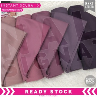 (NALYA EXCLUSIVE) Tudung Sarung Instant Awning Scuba Premium Mosscrepe (M/L)