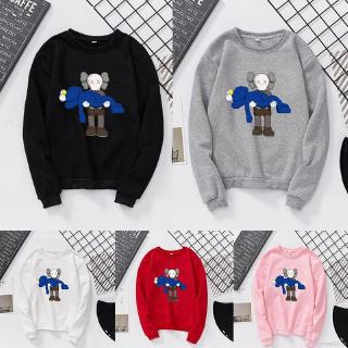 【readystock】KAWS Sesame Street joint name autumn and winter couple round neck sweater Double doll