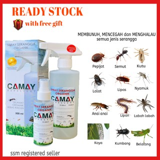 Camay Repellent organic insect repellent Spray semut, lipas, kutu, pepijat