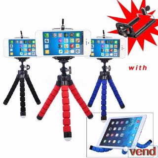 Portable Flexible Sponge Octopus Tripod Mounting Bracket With Holder For Gopro Camera Phone Holder