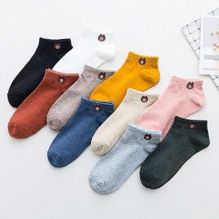 【10 pairs = 9.9RM】cute bear invisible boat socks Korean spring and summer socks