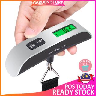 GS GoTravel 50kg/110lb Luggage Scale Electronic Digital Scale Portable Handheld Suitcases Hanging Scale Weight Balance