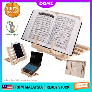 Foldable Rehal Book Rest Muslim Islam Al-Quran Prayer Sembahyang Solat Reading Folding Compact Portable Stand for Book