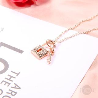 Diamond Necklace Rose Gold K Female Heart Chain 623