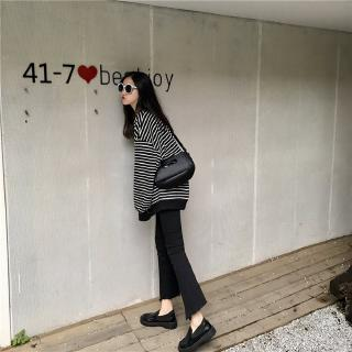 *YO*Long-Sleeved Striped Sweater Women'S Thin Spring And Autumn Wear  Jacket