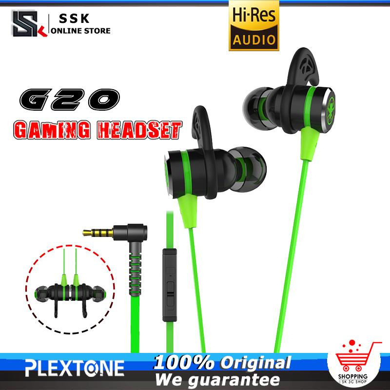 PLEXTONE G20 Noise Reduction Sports Entry Ear Competition Game with Microphone, PUBG Game Earphone