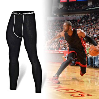 Men's Compression Tights Pants Gym Fitness Sports Leggings Jogging Pants - Ready Stock