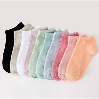 【READY STOCK】10 Color ! Ready Stock ! 2018 Women's Boat Socks, Colored Socks Shallow Socks