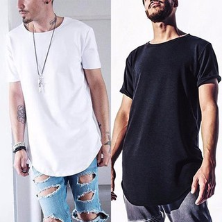 SunageFashion Men Slim Casual Short Sleeve Loose Solid Color Shirt T-Shirt Tee Tops