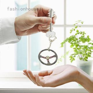 Classical Fashion Racing Car Steering Wheel Mini Keychain Keyring Pendent
