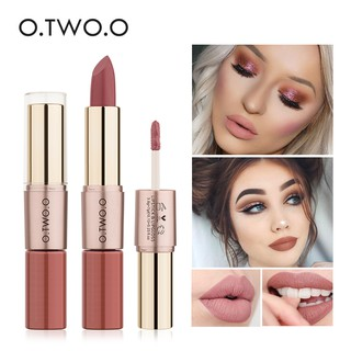 [O.TWO.O] 12 Colors Waterproof Matte Lipstick & Lip Gloss (2 In 1)