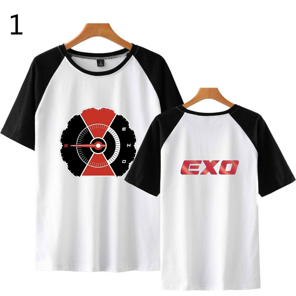 EXO Casual Short Sleeve Tops Couple T-Shirts