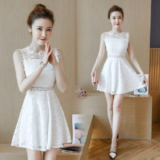 145 short short dress 150cm high summer dress petite girl xs small fresh sleeveless lace skirt