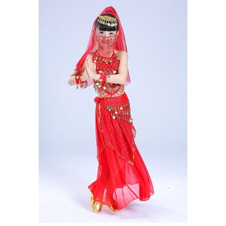Children National Dance Indian Dance Dress Practice Belly Dance Costumes Girls Kids Dance Clothes Dress