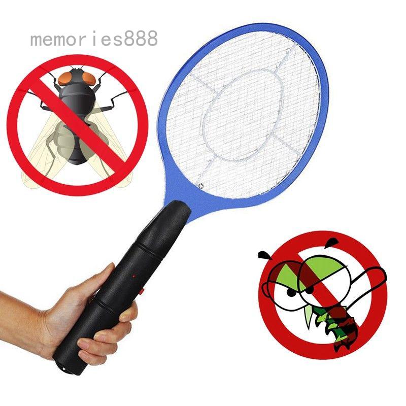 memories888 Electric Fly Insect Racket Zapper Killer Swatter Bug Mosquito Wasp Electronic UK