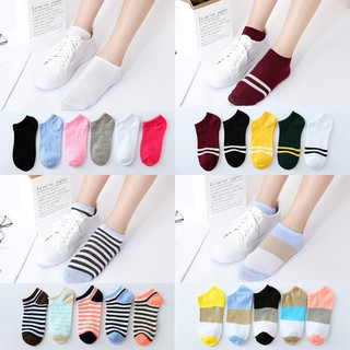 1 Pairs Of Ladies Socks Korean Low Cut Non-Slip Cotton Socks STOKIN PANTANG MURA