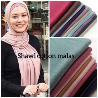 Shawl malas cotton jersey (ready stock)