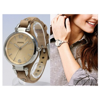 (Shocking Sale) Fossil Quartz Ladies analog with leather strap 38mm