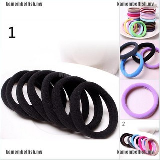 10pcs Women Elastic Hair Ties Band Ropes Ring Ponytail Holder Accessories Hot【STOCK+kamembellish.my】