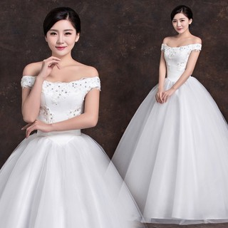 Ready Stock Korean Style Sweet Bridal Ball Gown Wedding Dress Princess Dresses