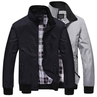 0093 JOHNNY Men's Good Quality Waterproof Jacket Collar Casual Fashion [Free Gift: RANDOM]