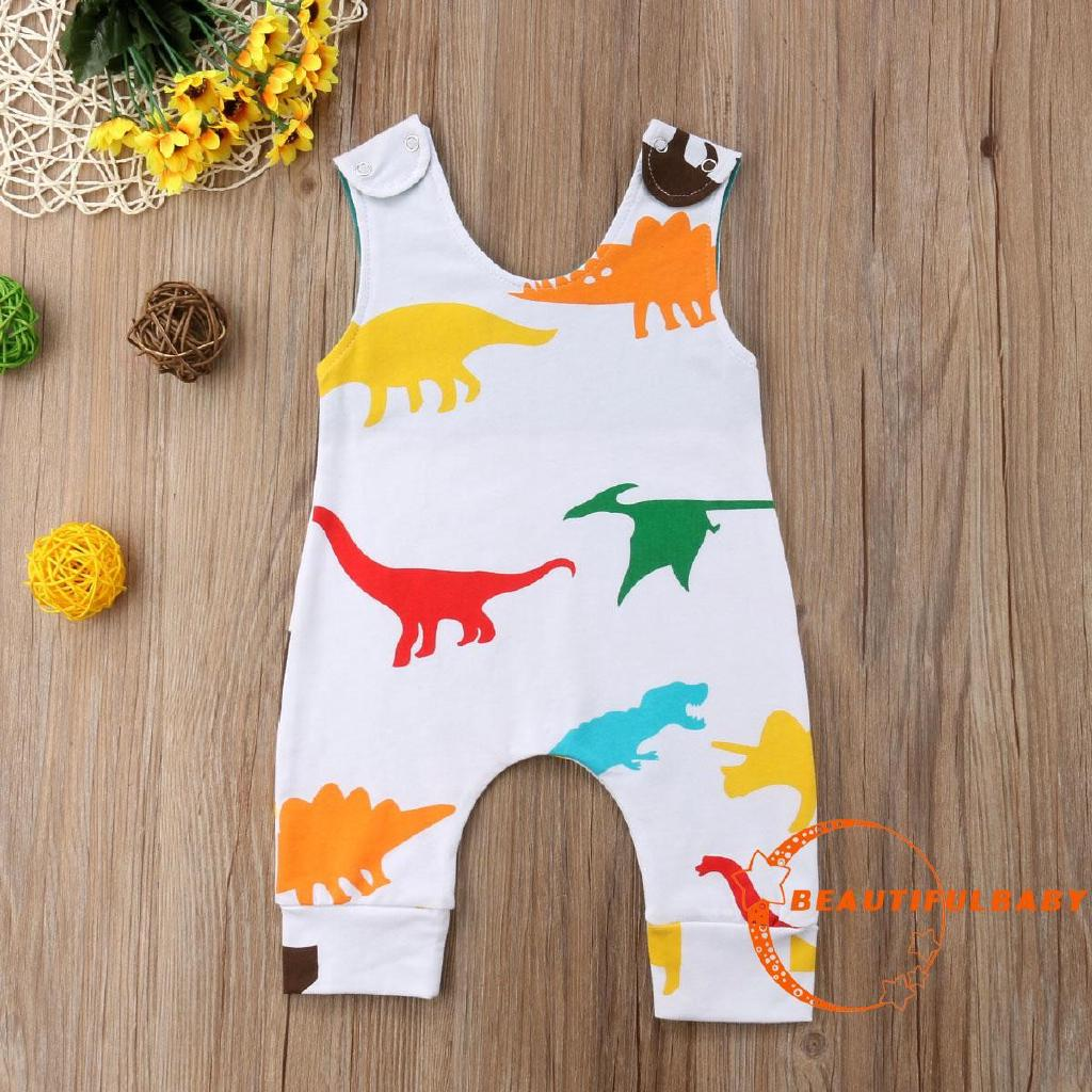 EUL-New Newborn Baby Boys Dinosaur Romper Bodysuit Jumpsuit Outfits Sunsuit