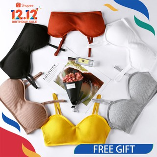 ⚡️12.12 FREE GIFT⚡️Ladies Bra comfort cotton teenage bras Sports Soft Cup Bralette  [Ready stock]