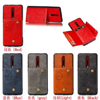For Redmi K20 K20 pro PU Leather Shockproof Cell Phone Case Anti-dust Phone Case with Double Buckle