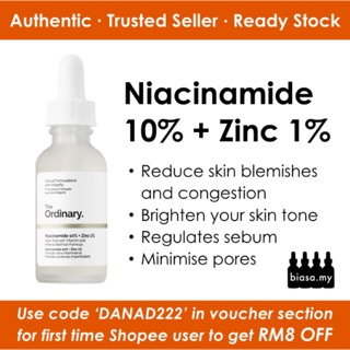(Ready Stock) THE ORDINARY Niacinamide 10% + Zinc 1%