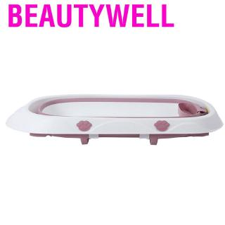 Beautywell Baby Folding Bathtub Infant Outdoor Travel Tank Portable Space Saving Foldable Washbasin Bath