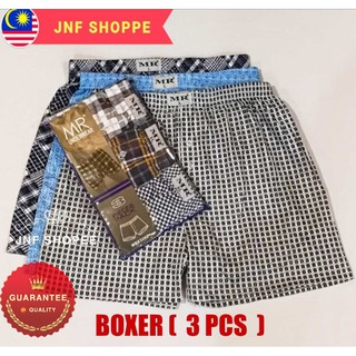 MEN BOXER ( 3 in 1 ) / UNDERWEAR / SELUAR PENDEK ( READY STOCK )