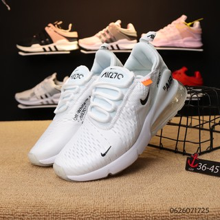 Original white Nike Air Max 270 Joint Edition Half Palm Air Track Running Shoes