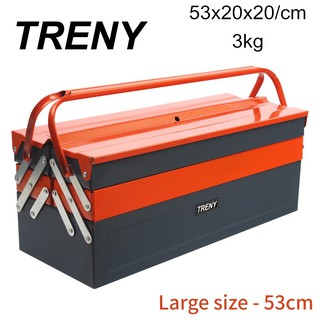 Promotions !! READY STOCK Free Shipping TRENY 3 LAYER METAL TOOL BOX Home Tool Storage & Shelving Mano Heavy Duty