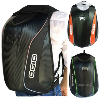 OGIO motorcycle backpack Knight backpack helmet bag waterproof bag carbon fiber hard shell turtle bag riding bag