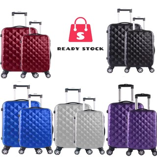 HOTSALES Luggage Plain ABS Suitcase 20INCH+24INCH Travel Hard Case Luggage