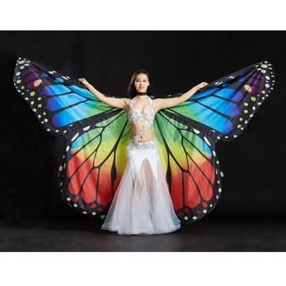 Egypt Belly Wings Dancing Costume Butterfly Wing Halloween Dance Accessories