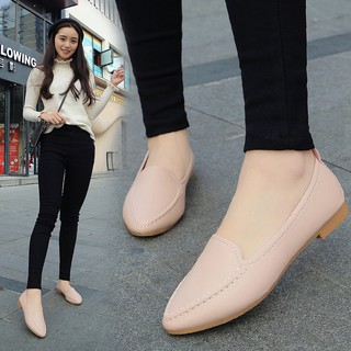 【IN-STOCK️】2019 single women shoes summer casual flat shoes Loafer Single Shoes