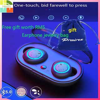 TWS Bluetooth Stereo Wireless Earbuds Bluetooth Headset Touch Control Earphone Handsfree With Microphone 5.0 headset