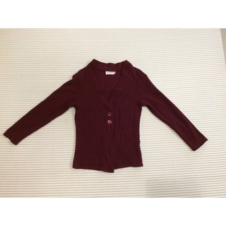 Scarlet Maroon/Red Knitted Cardigan