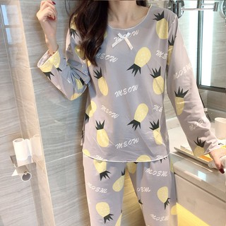 women corsetFemale age season long sleeve pajamas han edition in the fall and winter sweet household to take big yards