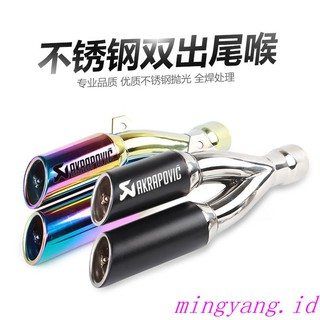 r Thunder double-outlet sports car Kawasaki Ninja Scorpio exhaust pipe universal