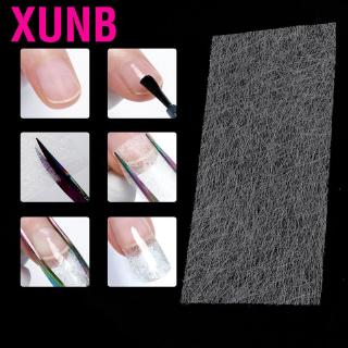 XUNB 10 pcs Non-woven Silks  Nail Art Extension Manicure Tool soft and light