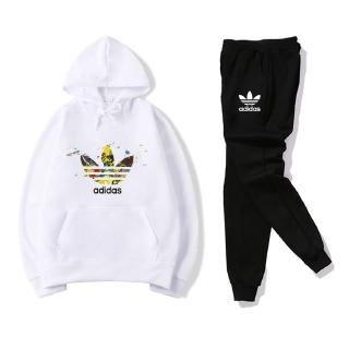 Ready Stock Adidas Hoodie Men Women Ready Stock Coat Couple Wear Sweater Set
