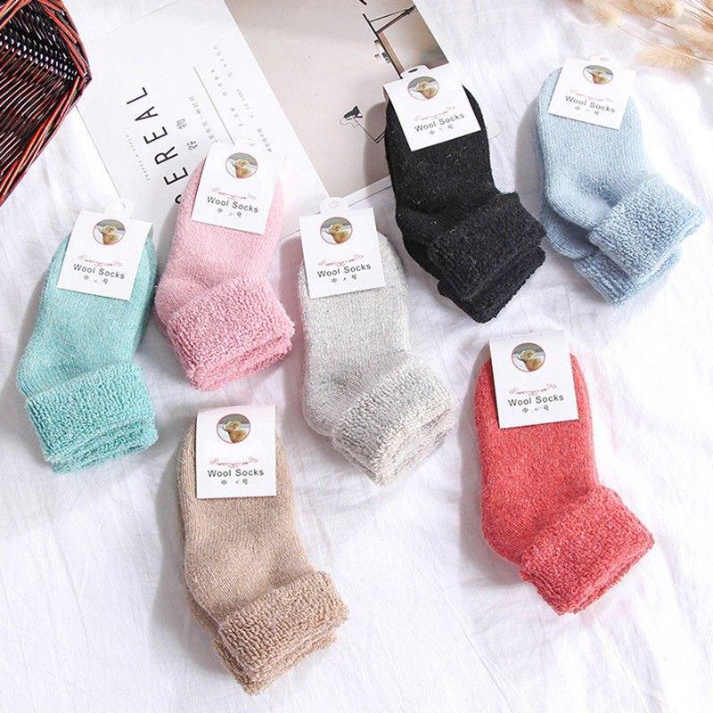 1 PAIRThermal Kids Socks Cotton Wool Thick Winter Warm Accessories