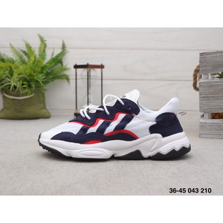 Original ready stock Adidas ozweego adipreneb mesh surface breathable leisure sports running shoes for men and women